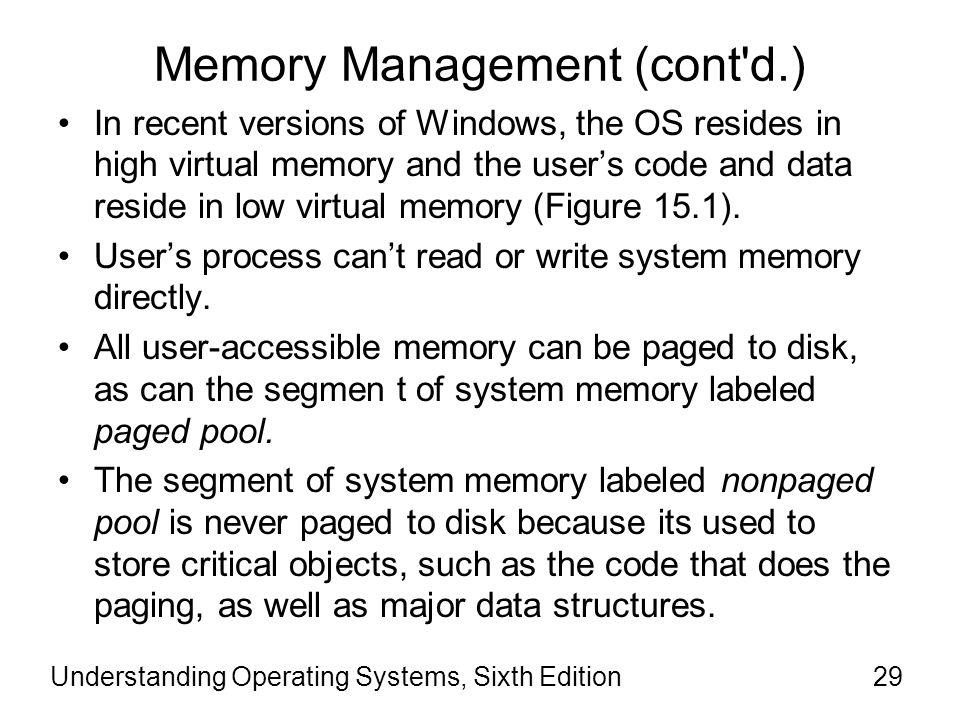 Memory Management (cont d.)