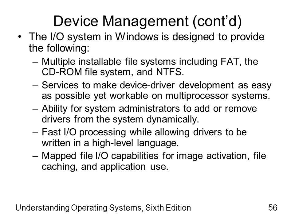 Device Management (cont'd)