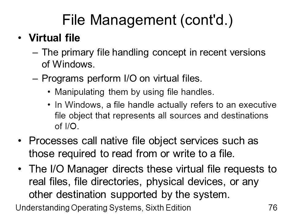 File Management (cont d.)