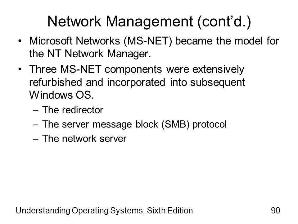 Network Management (cont'd.)