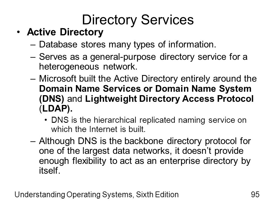 Directory Services Active Directory