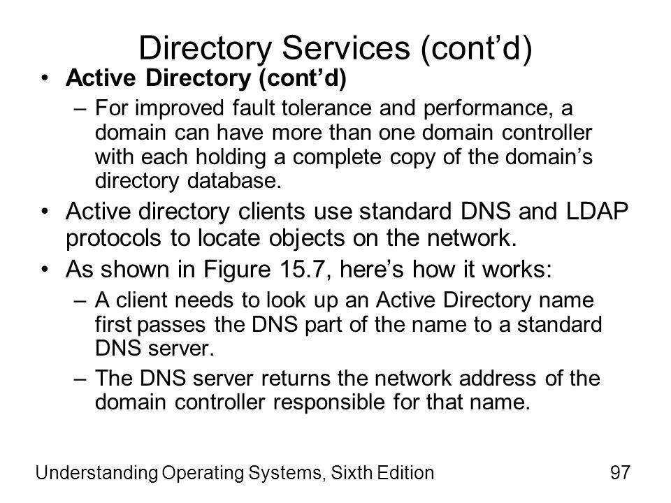 Directory Services (cont'd)