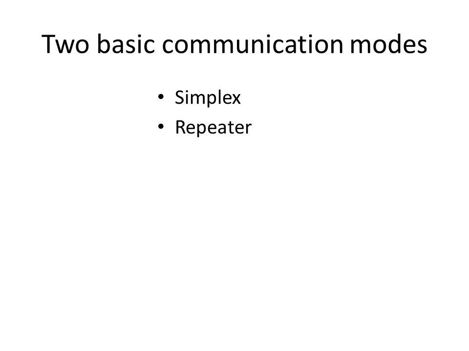 Two basic communication modes