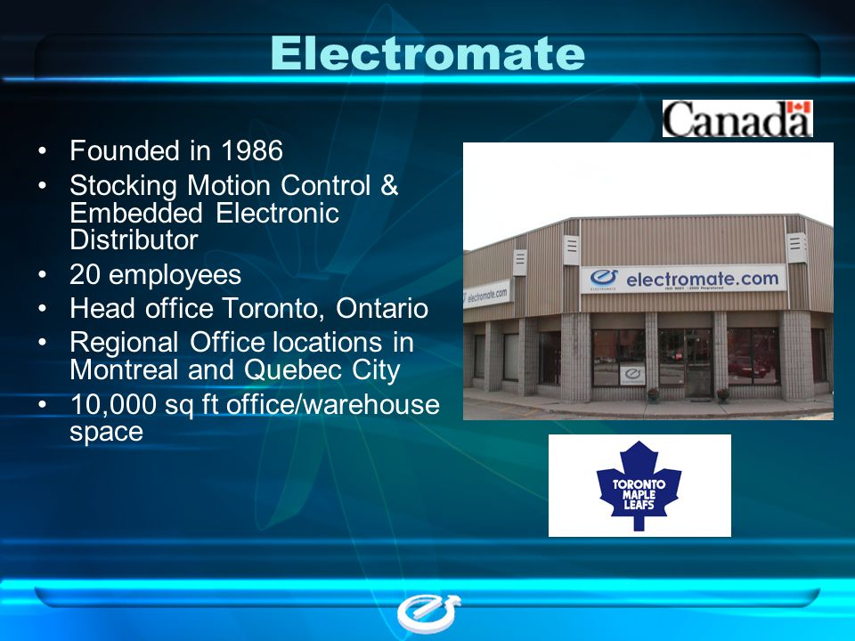 Electromate Founded in 1986