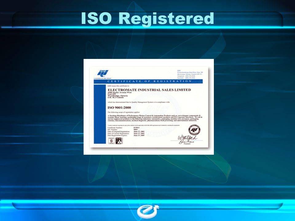 ISO Registered