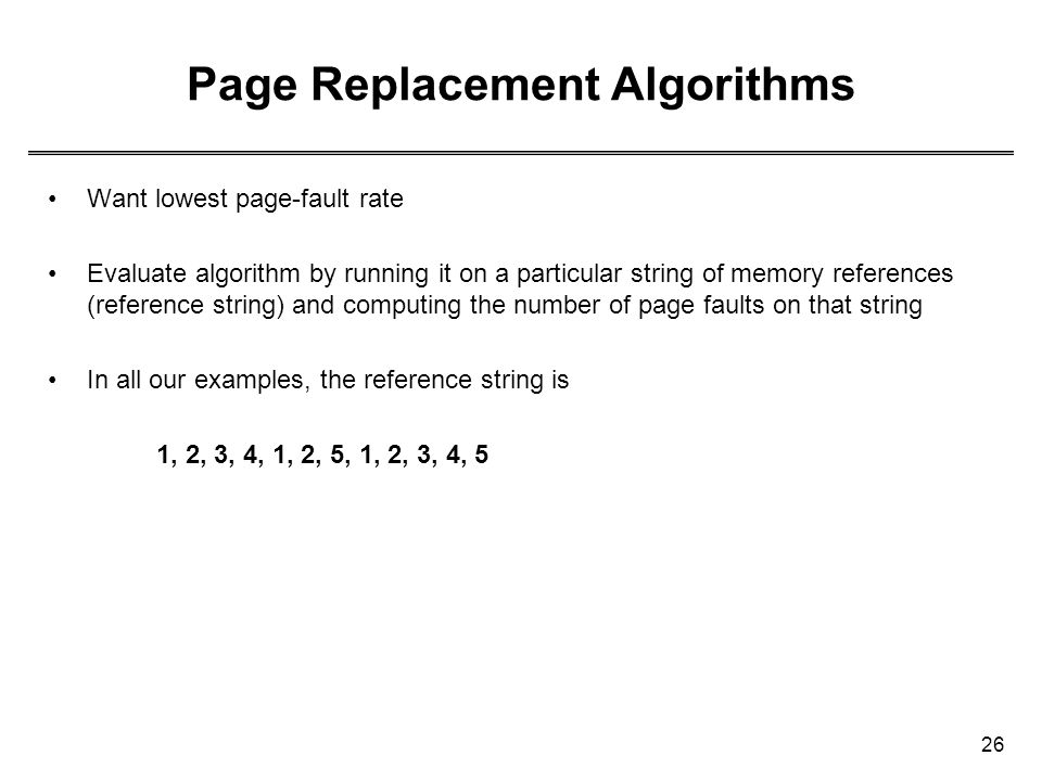 Page Replacement Algorithms