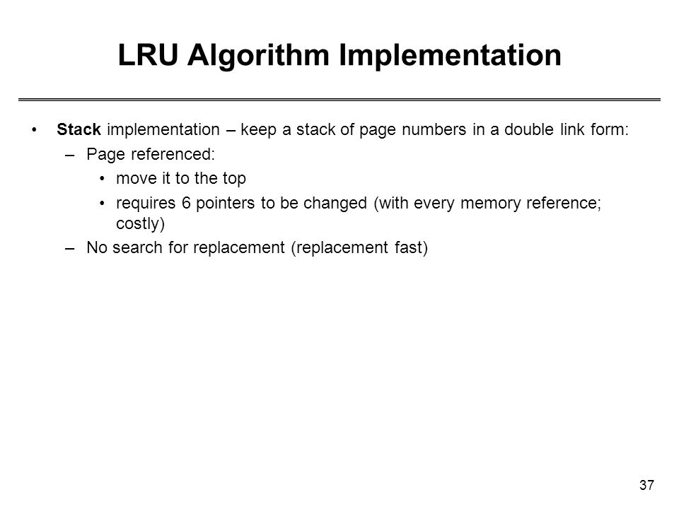 LRU Algorithm Implementation