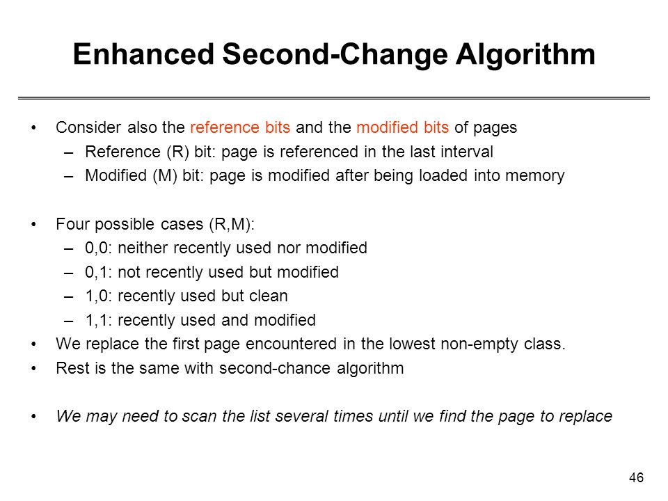 Enhanced Second-Change Algorithm