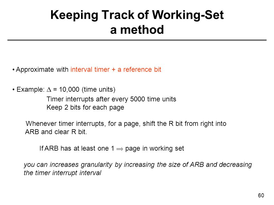 Keeping Track of Working-Set a method