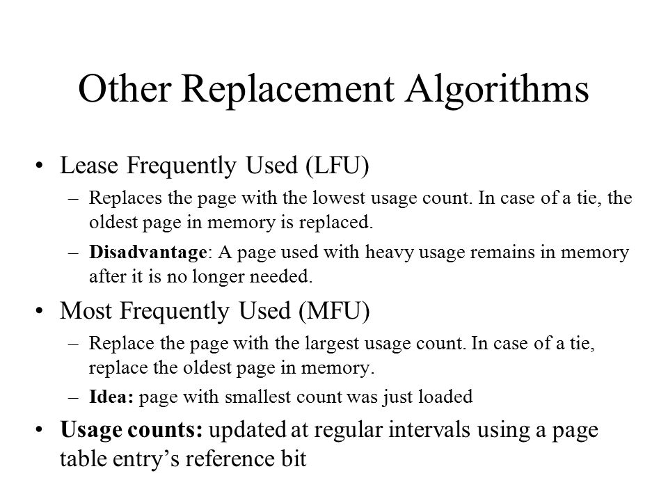 Other Replacement Algorithms