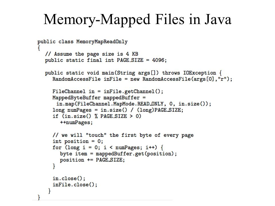 Memory-Mapped Files in Java