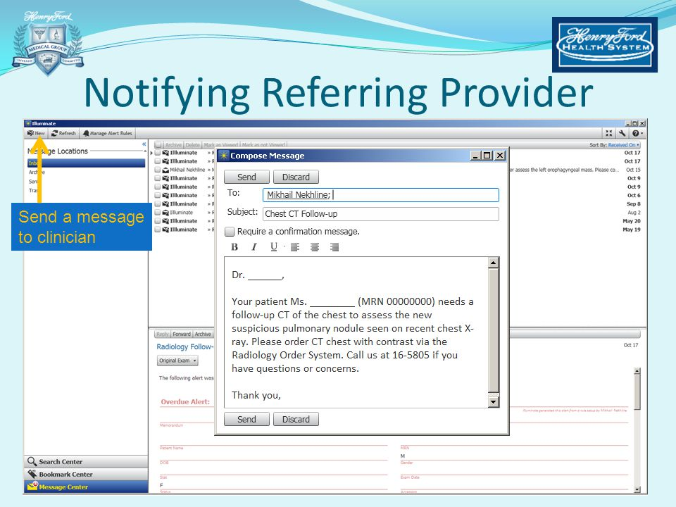 Notifying Referring Provider
