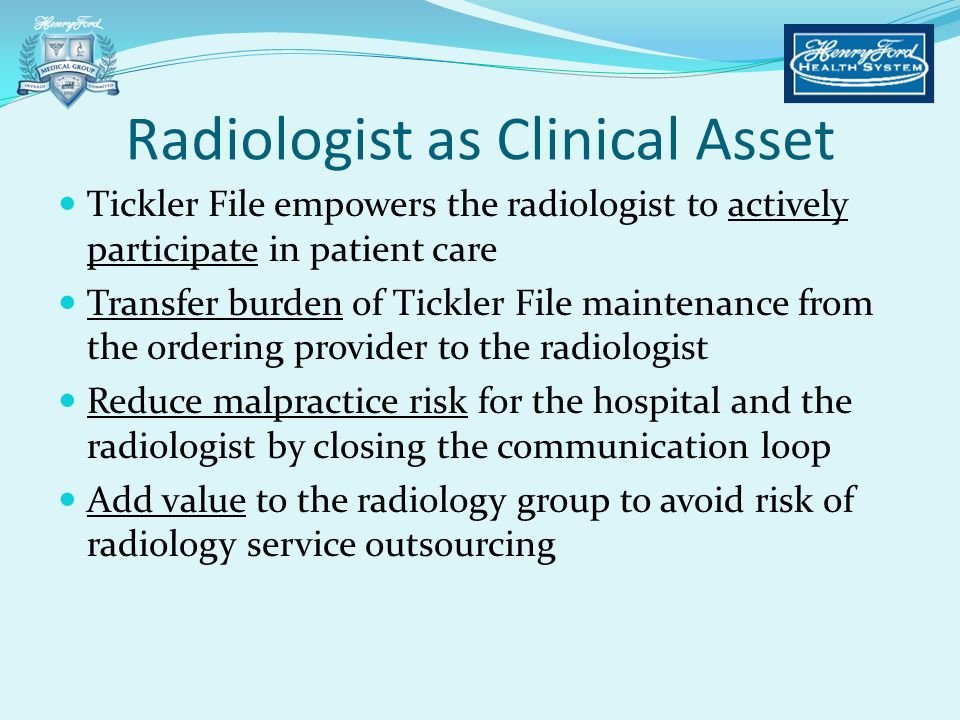 Radiologist as Clinical Asset