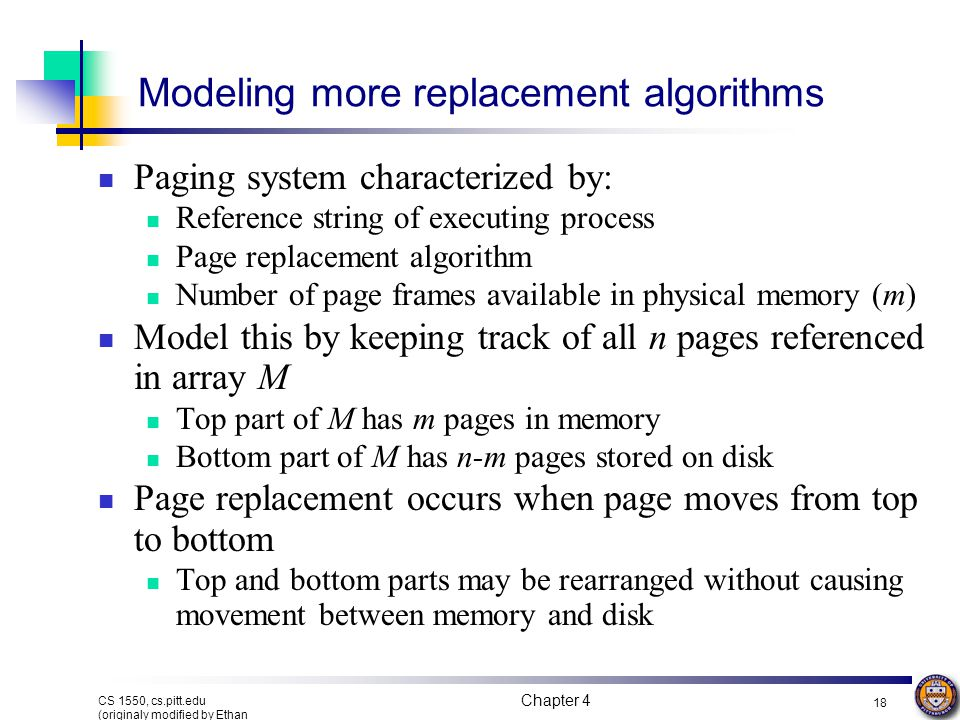Modeling more replacement algorithms