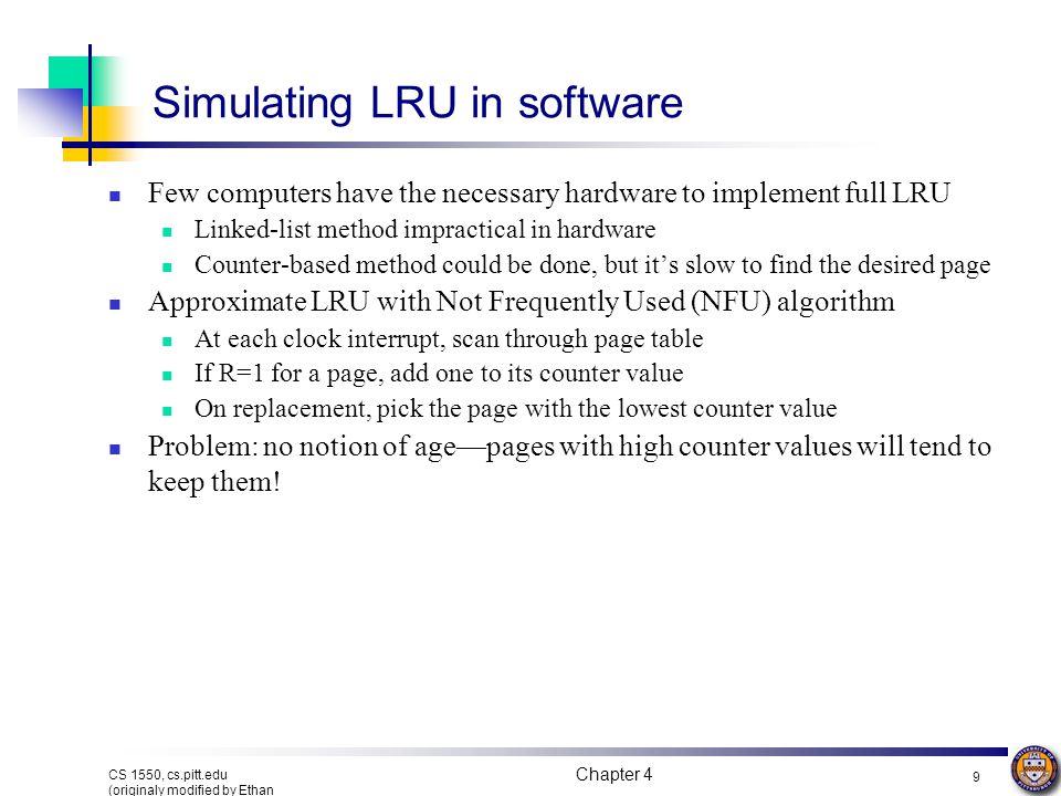 Simulating LRU in software