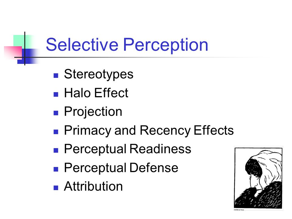 Selective Perception Stereotypes Halo Effect Projection