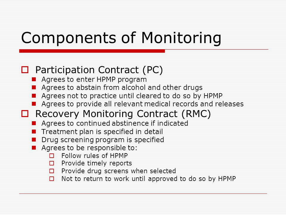 Components of Monitoring