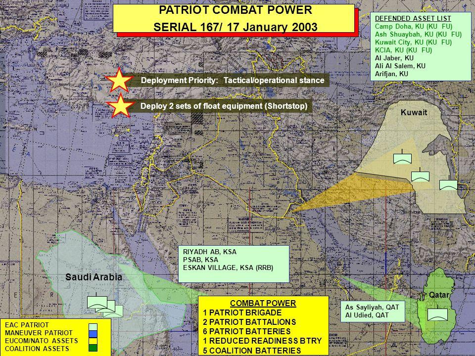 PATRIOT COMBAT POWER SERIAL 167/ 17 January 2003