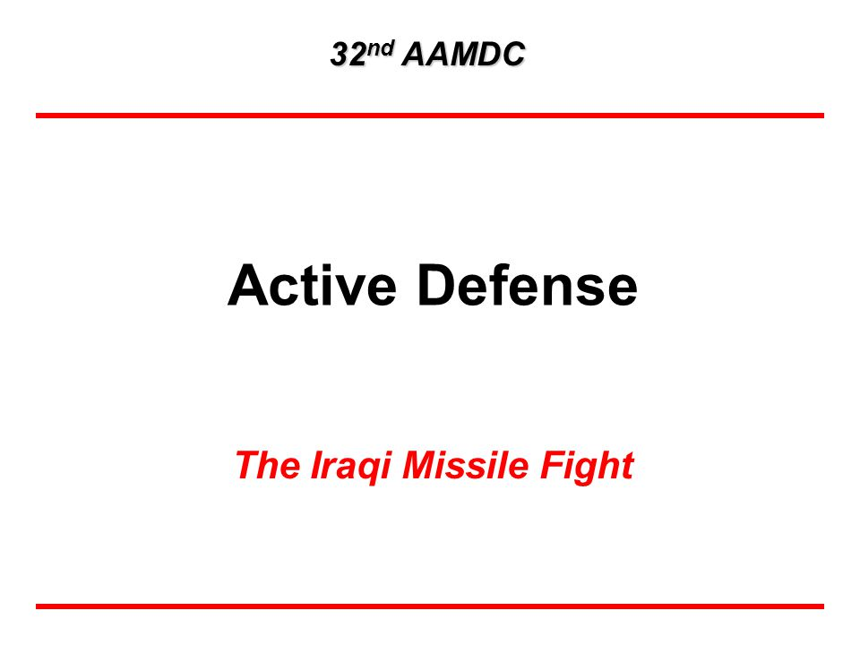 The Iraqi Missile Fight