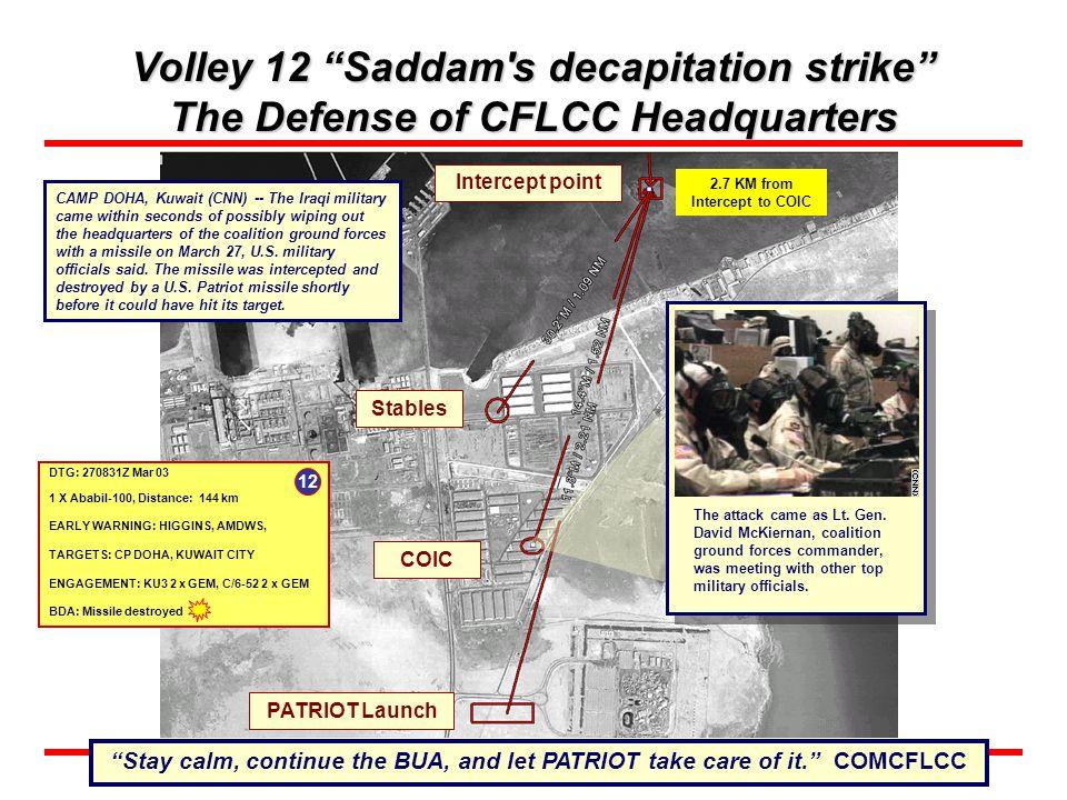 Volley 12 Saddam s decapitation strike