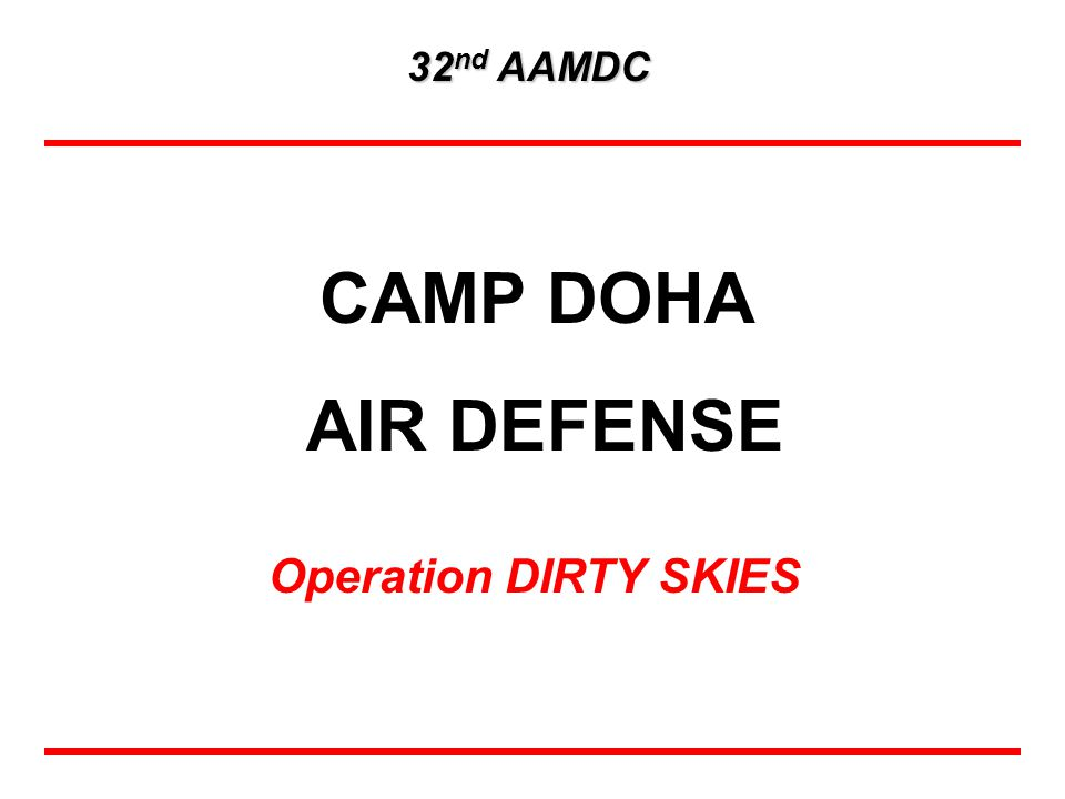 32nd AAMDC CAMP DOHA AIR DEFENSE Operation DIRTY SKIES