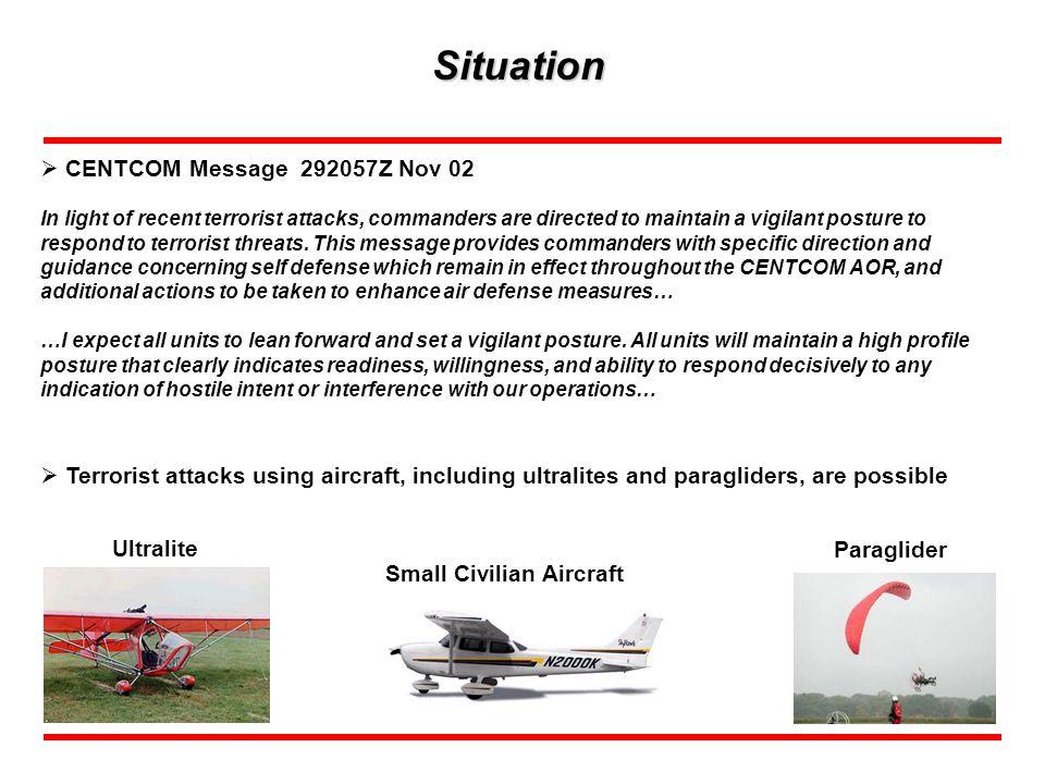 Situation CENTCOM Message 292057Z Nov 02