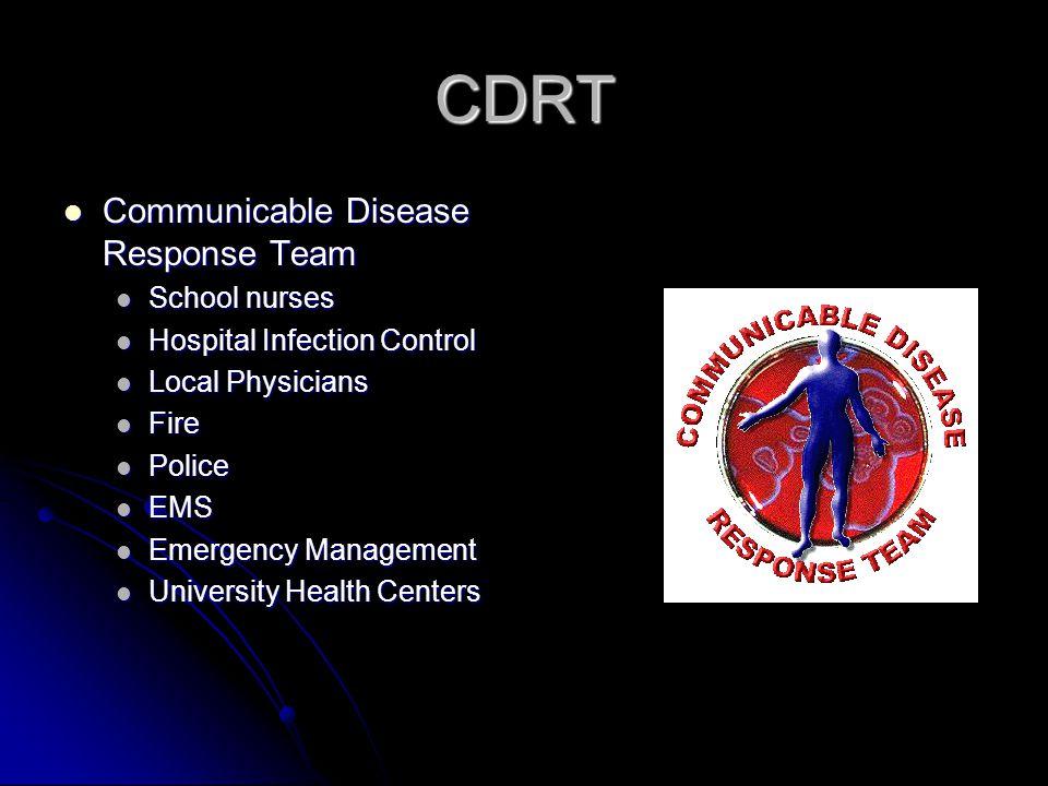 CDRT Communicable Disease Response Team School nurses