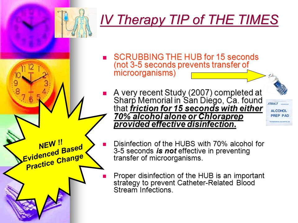 IV Therapy TIP of THE TIMES