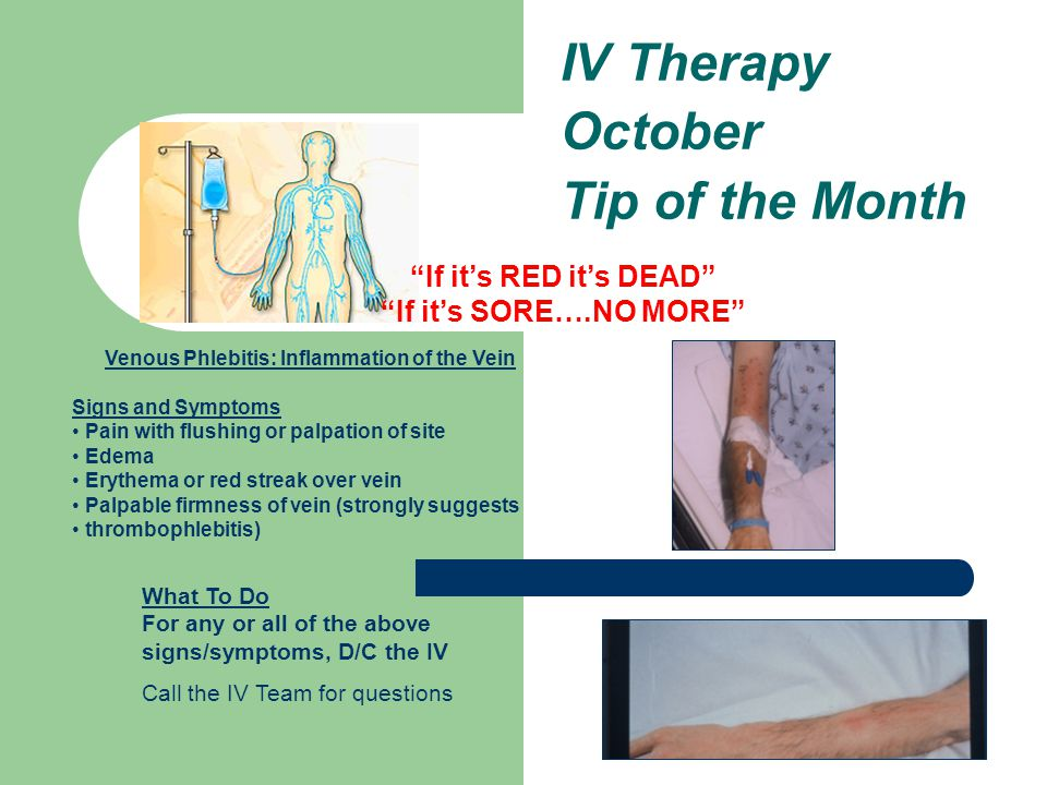 IV Therapy October Tip of the Month