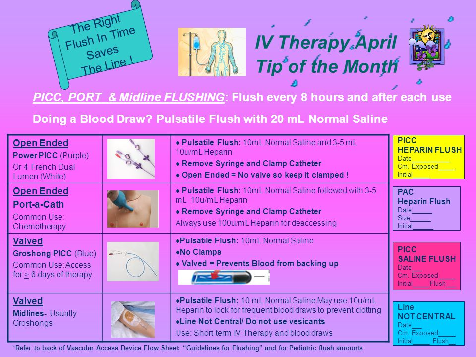 IV Therapy April Tip of the Month