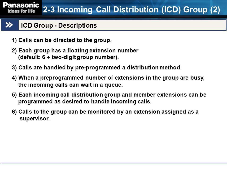 2-3 Incoming Call Distribution (ICD) Group (2)