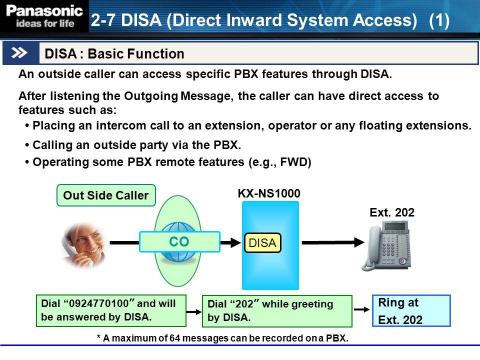 2-7 DISA (Direct Inward System Access) (1)