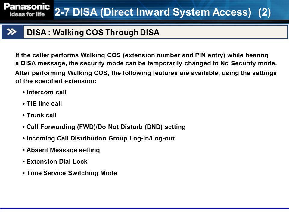 2-7 DISA (Direct Inward System Access) (2)