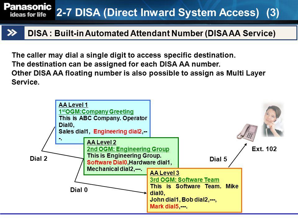2-7 DISA (Direct Inward System Access) (3)