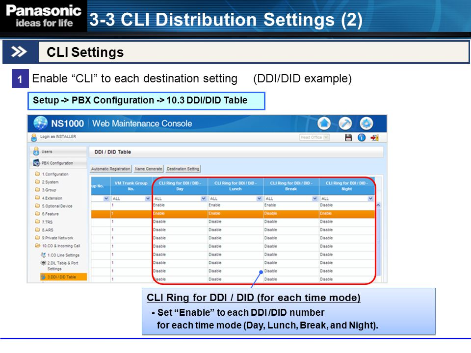 3-3 CLI Distribution Settings (2)