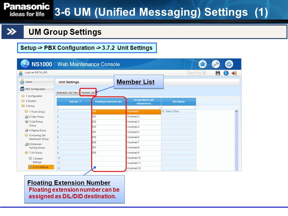 3-6 UM (Unified Messaging) Settings (1)
