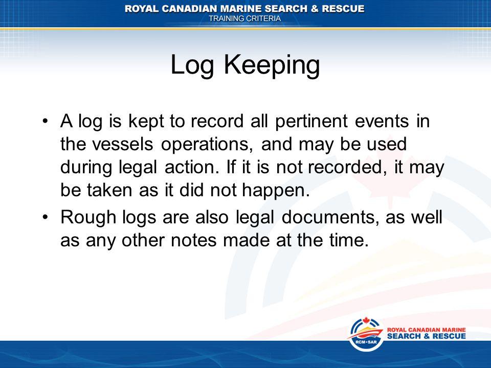Log Keeping