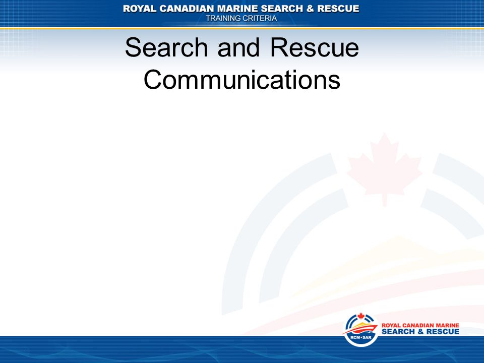 Search and Rescue Communications
