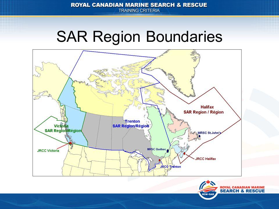 SAR Region Boundaries