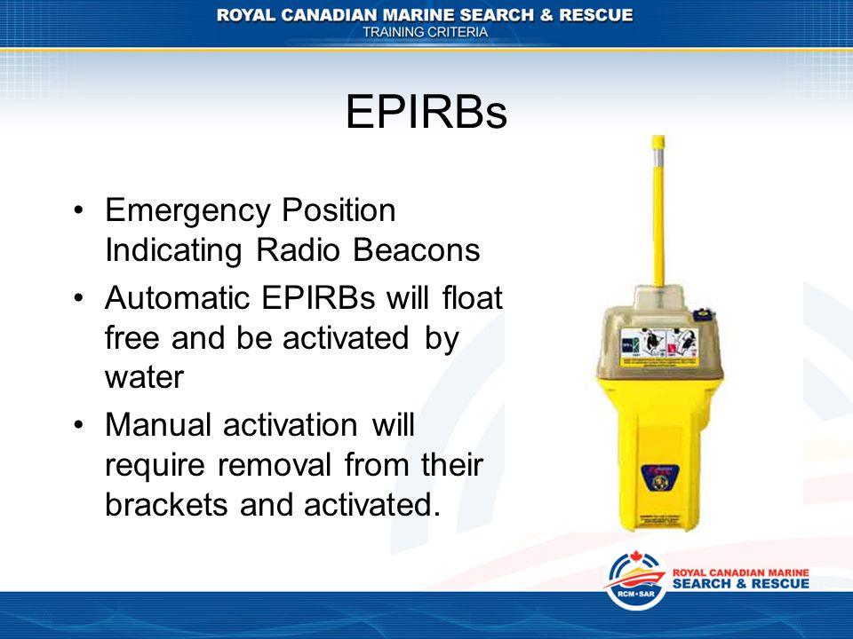 EPIRBs Emergency Position Indicating Radio Beacons
