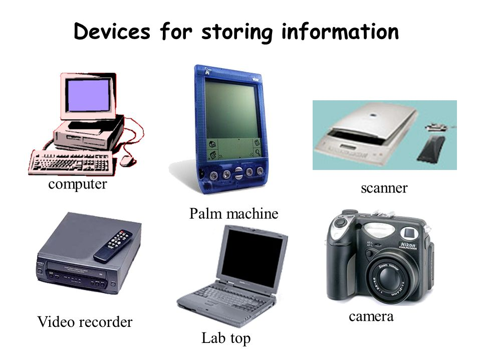 Devices for storing information