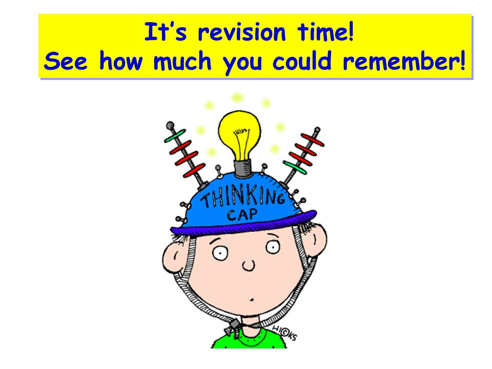 It's revision time! See how much you could remember!