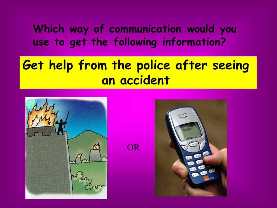 Get help from the police after seeing