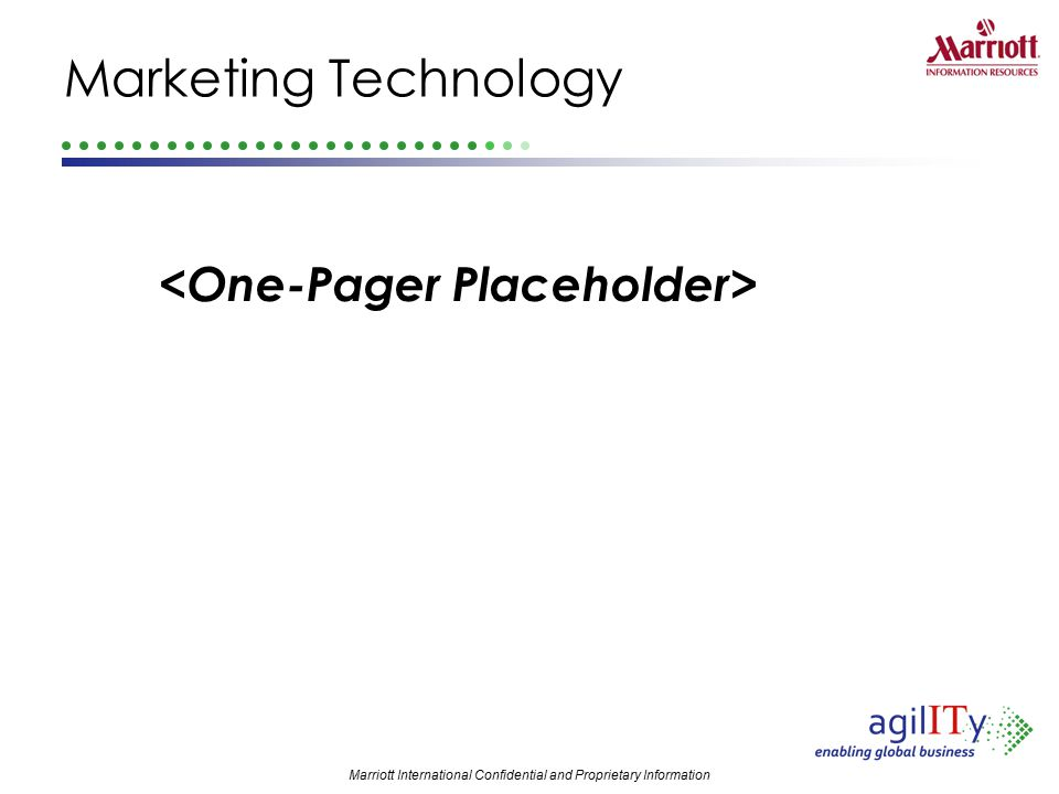 Marketing Technology <One-Pager Placeholder>