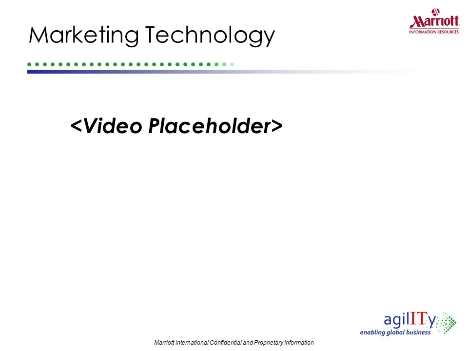Marketing Technology <Video Placeholder>