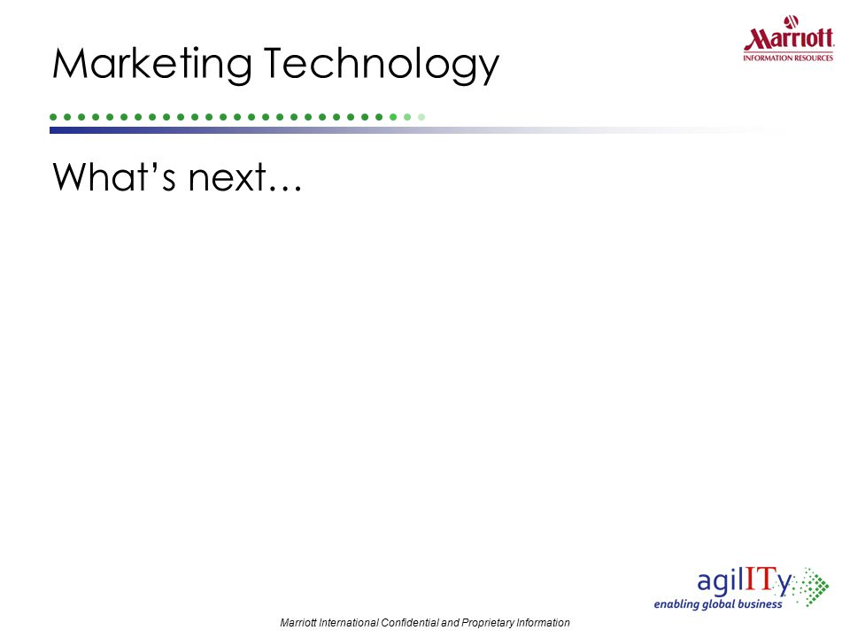 Marketing Technology What's next…