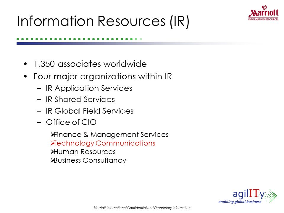 Information Resources (IR)