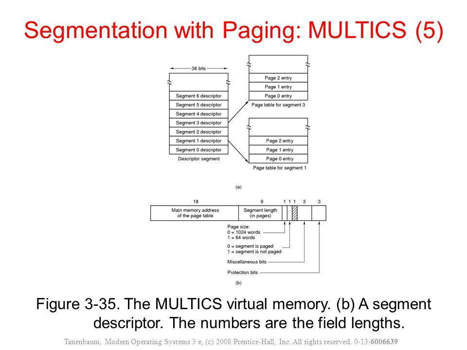 Segmentation with Paging: MULTICS (5)