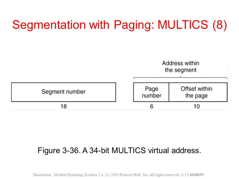 Segmentation with Paging: MULTICS (8)