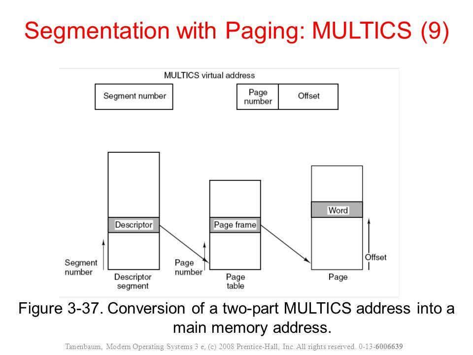 Segmentation with Paging: MULTICS (9)